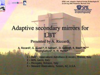 Adaptive secondary mirrors for LBT