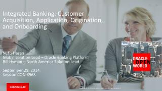Integrated Banking: Customer Acquisition, Application, Origination, and  Onboarding