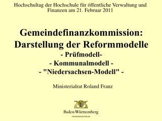 Hochschultag der Hochschule f�r �ffentliche Verwaltung und Finanzen am 21. Februar 2011