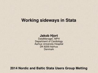 2014 Nordic and Baltic Stata Users Group Metting