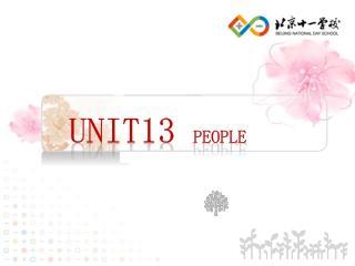 Unit13  People