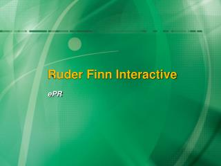 Ruder Finn Interactive