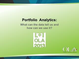Portfolio  Analytics:
