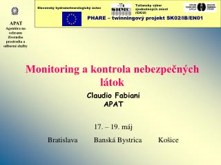 Monitoring a kontrola nebezpečných látok