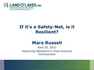 If it's a Safety-Net, is it Resilient?