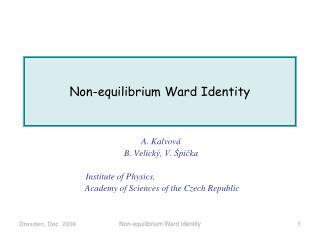 Non-equilibrium Ward Identity
