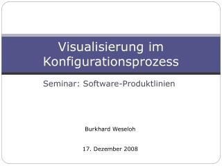 Visualisierung im Konfigurationsprozess