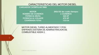 CARACTERISTICAS DEL MOTOR DIESEL