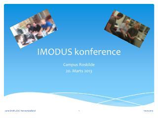 IMODUS konference