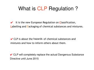 What is  CLP  Regulation ?