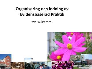 Organisering och ledning av  Evidensbaserad Praktik