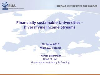 Financially sustainable Universities –  Diversifying Income Streams