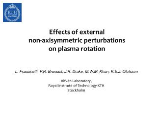 Effects of external non-axisymmetric perturbations on plasma rotation