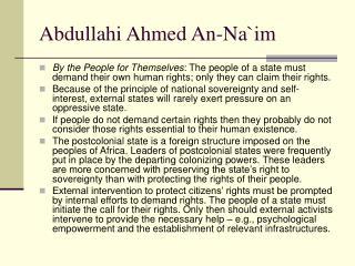 Abdullahi Ahmed An-Na`im
