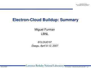 Electron-Cloud Buildup: Summary