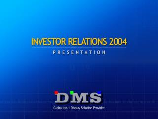 About DMS Market Analysis Business Domain Vision & Strategy Investment Point Appendix