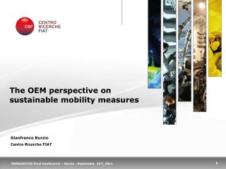 The OEM perspective on sustainable mobility measures