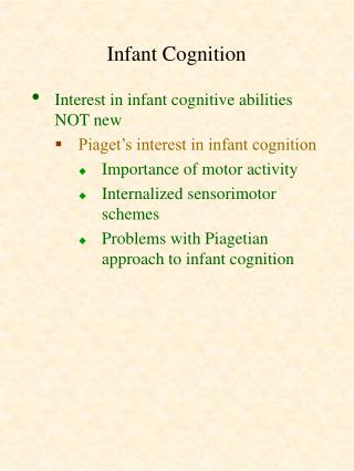 Infant Cognition