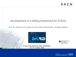 Cracow  Grid Workshop 2006 (CGW2006) 15 th -18 th October  2006