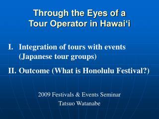 2009 Festivals  Events Seminar Tatsuo Watanabe