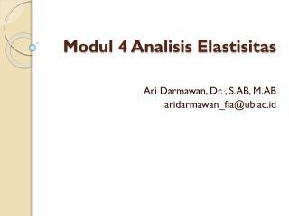 Modul 4 Analisis Elastisitas