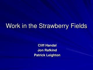 Work in the Strawberry Fields