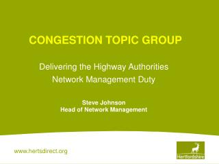 CONGESTION TOPIC GROUP