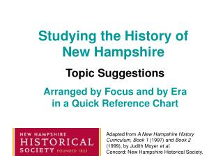 Studying the History of New Hampshire