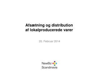 Afsætning og distribution af lokalproducerede varer