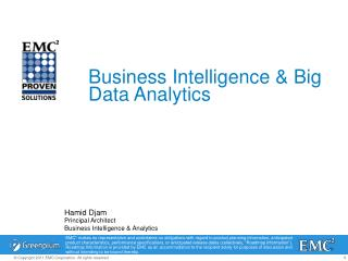 Hamid  Djam Principal Architect  Business Intelligence & Analytics