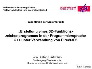 Präsentation der Diplomarbeit: