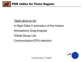 PDR slides for Tomo Sugano