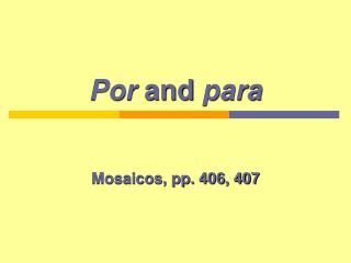 Por  and  para