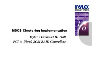 MSCS Clustering Implementation