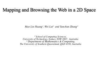 Mapping and Browsing the Web in a 2D Space