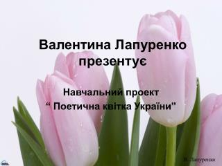 Валентина Лапуренко презентує