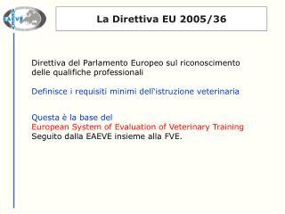 La Direttiva EU 2005/36