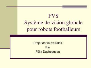 FVS Système de vision globale pour robots footballeurs