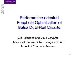 Performance-oriented Peephole Optimisation of Balsa Dual-Rail Circuits
