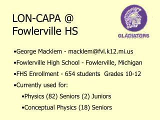 LON-CAPA @ Fowlerville HS