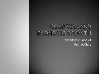 Cold War and economic growth