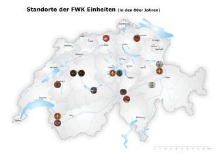Standorte der FWK Einheiten  (in den 80er Jahren)