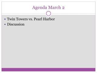 Agenda March 2