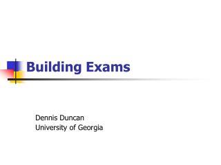 Building Exams