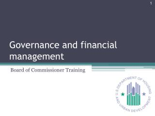 Governance and financial management