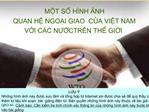 MT S H NH NH  QUAN H NGOI GIAO  CA VIT NAM  VI C C NUCTR N TH GII