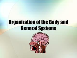 Organization of the Body and General Systems