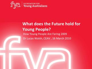 What does the Future hold for Young People?