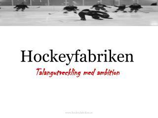 Hockeyfabriken Talangutveckling med ambition