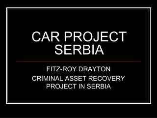 CAR PROJECT SERBIA